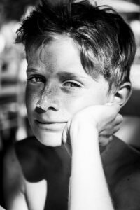 freckles, boy, young